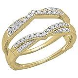 Dazzlingrock-Collection-033-Carat-ctw-14K-Yellow-Gold-Round-Diamond-Wedding-Band-Guard-Double-Chevron-Ring-13-