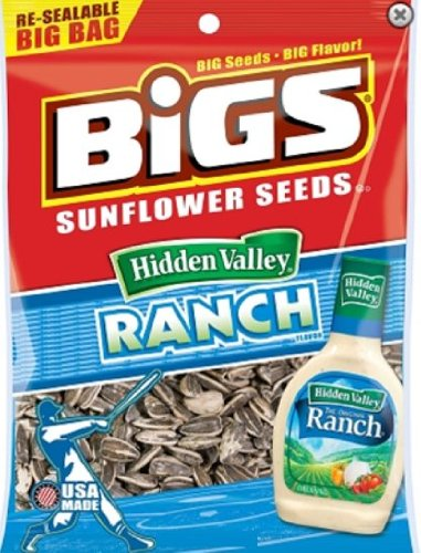 Bigs Zesty Ranch Sunflower Seeds, 5.35-Ounce (Pack of 12) by BIGS