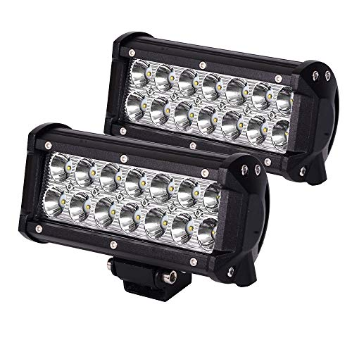 JAHURD LED Light Bar 12v, 2pcs 7