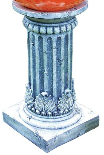 Echo Valley 9176 Tirreno Resin Pedestal Column for Gazing Globe or Sundial (Stand Sundial)