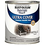indoor paint colors Rust-Oleum 254100 Painters Touch Quart Oil Based, Metallic Silver