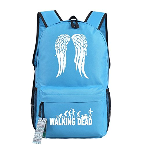Dead Backpack Choices Bag Blue Walking The School Cosplay Bag Light Bag Wings Luminous Casual 18 H1qX45