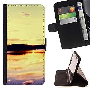 BullDog Case - FOR/LG OPTIMUS L90 / - / Sunset Beautiful Nature 109 /- Monedero de cuero de la PU Llevar cubierta de la caja con el ID Credit Card Slots Flip funda de cuer