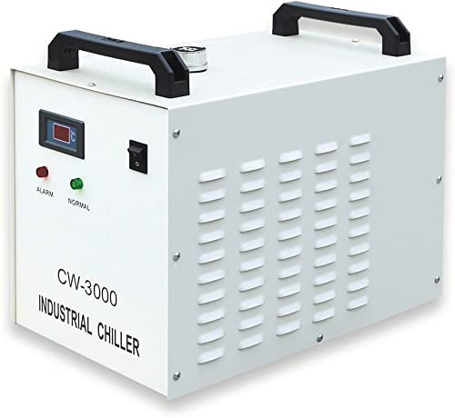 CW-3000DG Thermolysis Type Industrial Water Chiller for 60 80W Laser Engraving Machine AC 1P 110V, 60Hz -US Stock