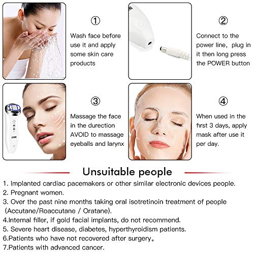 HIFU Face Lifting Machine Skin Tightening Home Use Antiaging Facial Toning Device for Women Face Chin Neck Eye