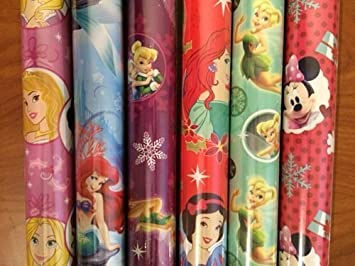 4 pack disney princess minnie mouse christmas wrapping paper rolls may vary