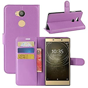 Sony Xperia L2 Case, Fettion Premium PU Leather Wallet Flip Phone Protective Case Cover with Card Slots and Magnetic Closure for Sony Xperia L2 Smartphone