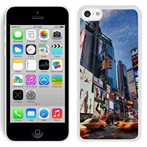 Fashionable Custom Designed iPhone 5C Phone Case With Times Square Lockscreen_White Phone Case