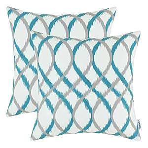 Amazon Com Calitime Pack Of 2 Cozy Fleece Throw Pillow