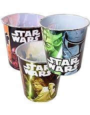 TE-Trend 3Pieza Star Wars diseño Papelera Cubo de Basura Cubo de Basura Kids Niños habitación de los Niños Cesto de Basura 5L plástico