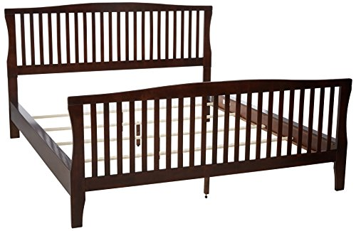 247SHOPATHOME IDF-7070CK, California King, Cherry California King Cherry Footboard
