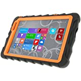 Gumdrop Cases Hideaway Stand for Dell Venue 8 Pro 5830 Rugged Tablet Case Shock Absorbing Cover Black/Orange 5830