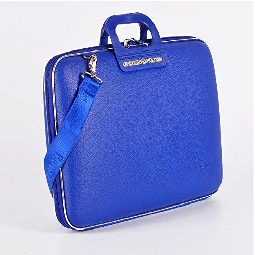 Bombata Bag Firenze Briefcase for 17 Inch Laptop - Cobalt Blue