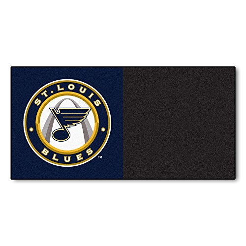 (FANMATS NHL St Louis Blues Nylon Face Team Carpet Tiles)