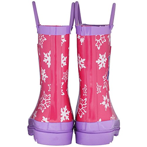 Disney Frozen Girls Anna and Elsa Pink Rain Boots - Size 12 M US Little Kid by Disney (Image #3)