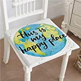 Egg Carton Foam Pad Mikihome Memory Foam Chair Pads Like Print in Blue and Green with This is My Place Lettering Cushion Perfect Indoor/Outdoor 26
