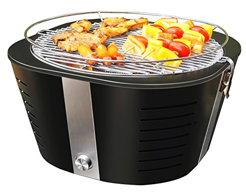 FutureSprout Smokeless Charcoal Grill Outdoor Grills Adjustable Temperature Easy Clean Portable Barbecue Grill for Backyard Camping Hiking Picnic Smokeless BBQ with Transport Bag