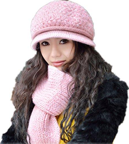 Winter Women Scarf Knitted Tassel