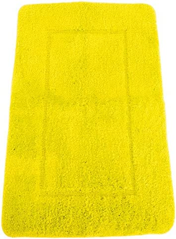 Mayfair Cashmere Touch Ultimate Microfiber Bath Mat 19.6 x 31.4in Yellow