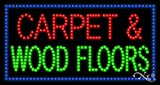 17x32x1 inches Carpet & Wood Floors Animated Flashing LED Window Sign