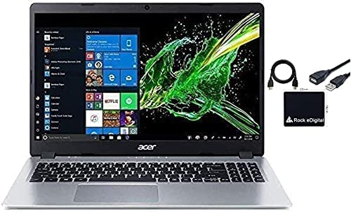 2021 Newest Acer Aspire 5 15.6″ FHD 1080P Laptop Computer AMD Ryzen 3 3200U Dual Core Processor (Beat i5-7200U) 8GB RAM 256GB SSD Backlit Keyboard WiFi Bluetooth HDMI Windows 10 Pro w/ RE Accessories