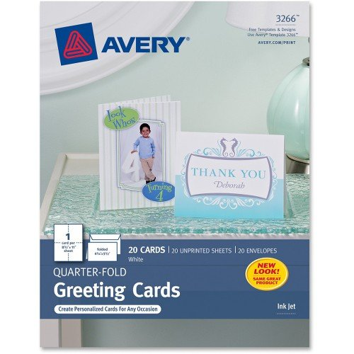 Avery Quarter Fold Card - 4.25