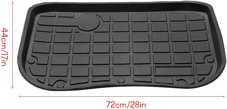 Lasamot Misura per Tesla Model 3 2017-2019 Front Cary Tray Trunk Floor Mat TPE Materiale Nero Impermeabile