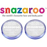 2 Large 18ml Snazaroo Face Painting Compacts Colors: BOTH WHITE [Toy]