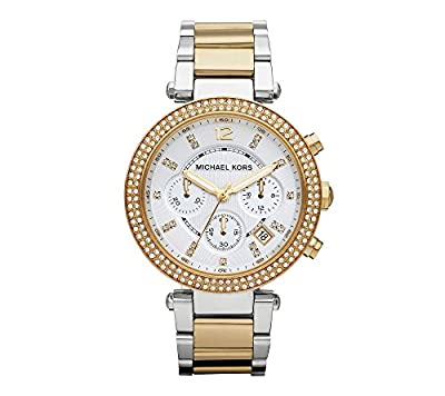 Michael Kors Women's 39mm Two-Tone Gold And Silver Parker Watch from Michael Kors