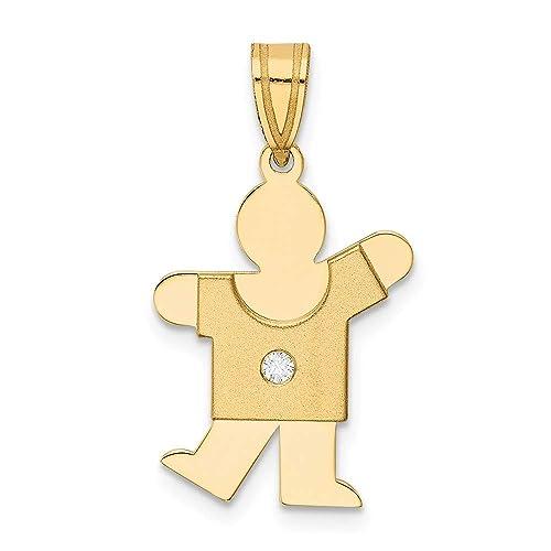 14k Yellow Gold Kid Charm