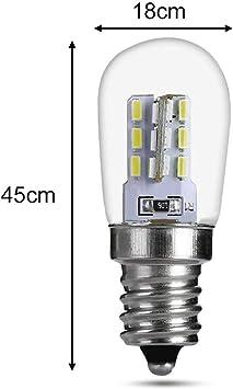 cineman - Bombilla para frigorífico (Casquillo E12, Resistente al Agua, 220 V, para Campana extractora, luz Blanca cálida), 02#, E12 2.0W: Amazon.es: Hogar