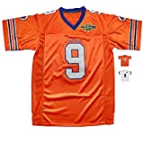 Micjersey Waterboy Football Jersey, Stitched #9 Bobby Boucher 50th Anniversary Movie Football Jerseys S-XXXL (Orange, S)