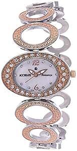 Accurate Romanza Women's White Dial Metal Band Watch - ALQ 1748RGT