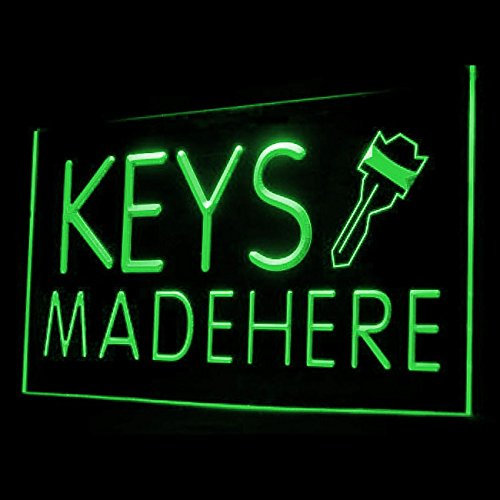 190058 Keys Made Here Car Key House Office Locksmiths Display LED Light - Sign Locksmith Led