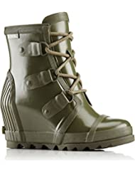 Sorel Womens Joan Glossy Wedge Rain Boot