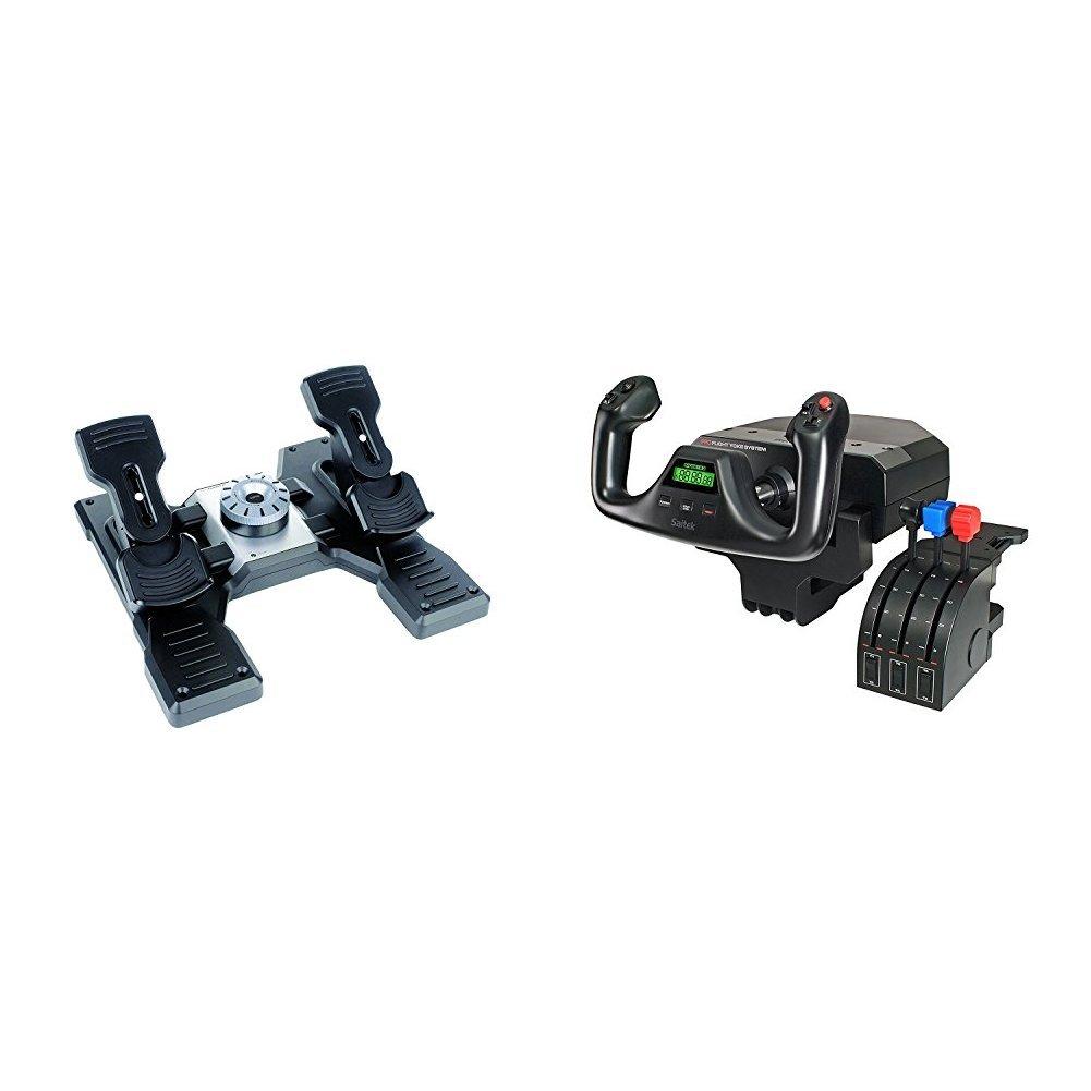 Logitech G Saitek Pro Flight Rudder Pedals and Yoke System