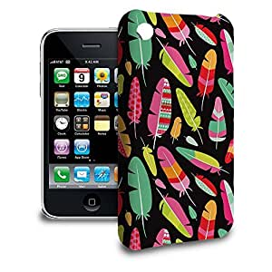 Phone Case For Apple iPhone 3/3GS - Tropical Feathers Tribal Designer Hardshell