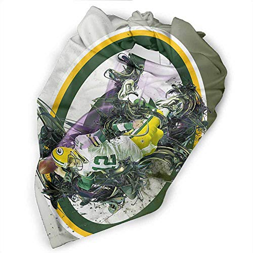 Dog Bandanas Pet Scarf, Green Bay Packers Pattern Printing, Triangle Scarf for Puppy Cat Kitten and Other Animals, 18x18-L 27.5 inches (Green Bay Packers Silk Scarf)
