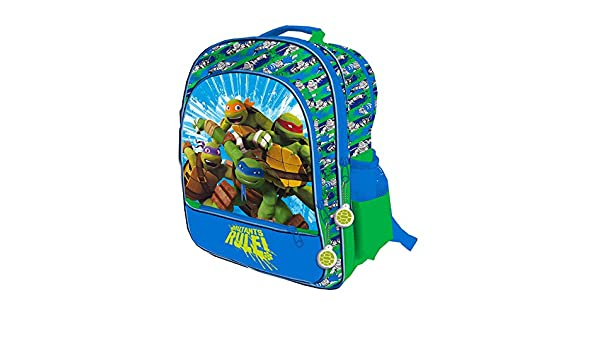 Tortugas Ninja - Mochila grande 4 cremalleras adaptable ...