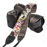 Eggsnow Camera Strap Universal Shoulder Neck Strap for All SLR/DSLR Camera-Pink Flower