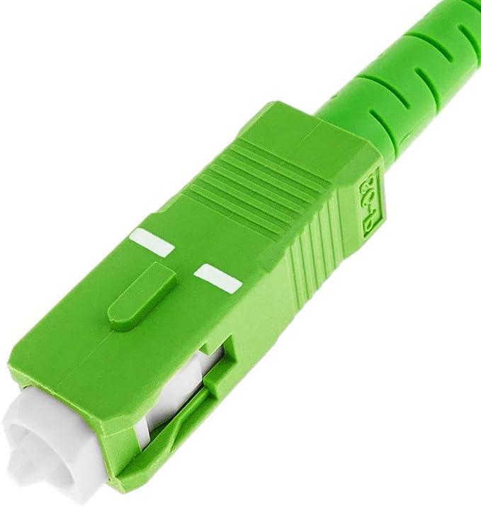 Compatible 99 /% op/érateurs Movistar Jazztel Vodafone Orange Amena Masmovil Yoigo C/âble fibre optique pour routeur Tuyau monomode FTTH 9//125 OS2 SC//APC-SC//APC Simplex 25 m