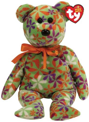 6ee697dc1b2 Amazon.com  Ty Beanie Babies Groovey - Flower Print Bear (Green)  Toys    Games