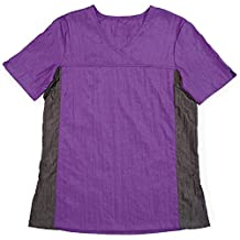 Insect Shield V-Neck Groomer's Top,  Purple