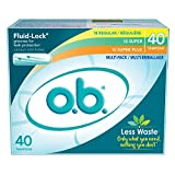 o.b. Original Non-Applicator Tampons, Regular, Super, & Super Plus Absorbancies, Multi Pack of 40 Tampons