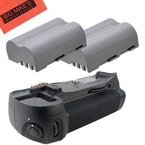 Battery Grip Kit for Nikon D300, D300S, D700 Digital SLR Camera Includes Qty 2 Replacement EN-EL3e Batteries + Vertical Battery Grip ()