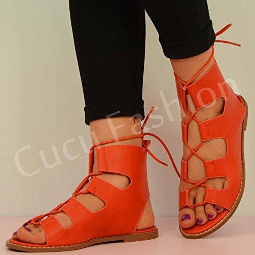 Cucu de rojo tacón Rojo mujer Zapatos Fashion 40xqEr4a