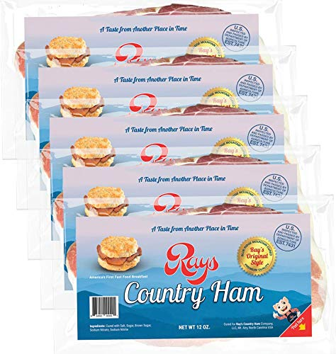 Rays Country Ham - 3 3/4 lb. 5-Pack - Blue Ridge Mountain Cured