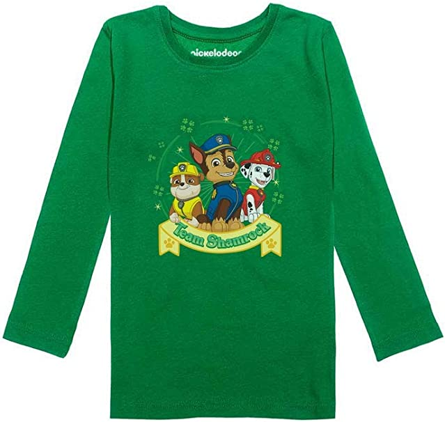 Short Sleeve Tshirts Happy Dots Shamrock Baby Girl Toddlers