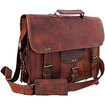 Amazon.com: Handmade Craft Leather Unisex Real Leather Messenger ...