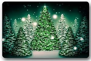 Custom el árbol de Navidad Felpudo arte diseño patrón impreso alfombra piso salón dormitorio Cool Pad moda alfombra 23,6(L) X 15,7(W)–grli diseño